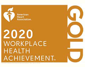 American Heart Association 2020 Workplace Health Achievement Gold