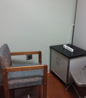 chair and cabinet