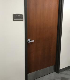door and plaque