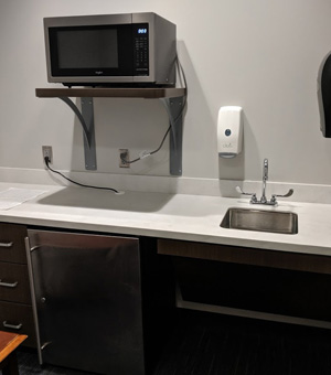 sink and microwave