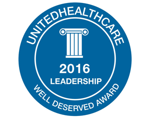 2016 UnitedHealthcare Leadership Well Deserved Award